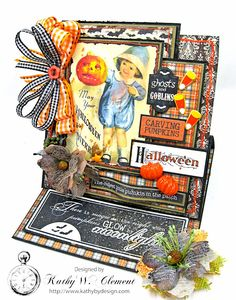 Authentique Mysterious Halloween Easel Card, by Kathy Clement, Product by Petaloo, Photo 3