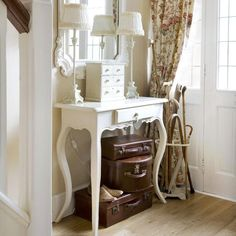 Looking for decorating updates for small hallways? See our small hallway ideas which include storage ideas to fit a compact space Decor, Home, Hallway Pictures, Furniture, Hallway Storage, Hallway Organization, Small Hallway Furniture, Room, Entryway Organization