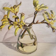 At the End of the World - Jane Guthleben Australian Artists, End Of The World, Flower Art, Glass Vase, Flora, Arts And Crafts, Instagram Posts, Painting, Art Floral