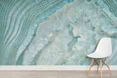 Add some enchanting beauty to your home with our Celeste Agate Crystal Wall Mural. The mystifying blue and teal tones in this design will create a feeling of peace. Home Decor Hacks, Funky Home Decor, Home Decor Trends, Diy Home Decor, Coastal Decor, Crystal Room, Crystal Wall, Wall Design, House Design