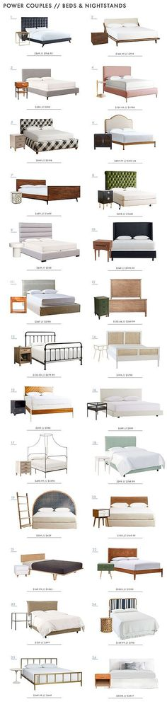 Power Couples: Beds and Nightstands | Emily Henderson | Bloglovin'