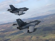 Two Tornado GR4 from 13 Squadron Royal Air Force