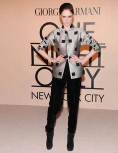 Coco Rocha attends Giorgio Armani One Night Only NYC, October 2013.