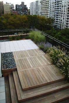 Dachterrasse gestaltung ideen holz boden belag sitzbank for Tischlerei herford