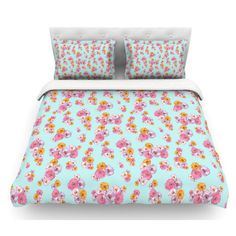 East Urban Home Paper Flower by Laura Escalante Featherweight Duvet Cover Size:
