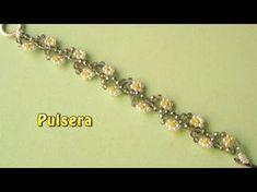 Bracelets – Page 3 Beaded Bracelets Tutorial, Beaded Bracelet Patterns, Bead Loom Bracelets, Jewelry Bracelets, Diy Jewelry, Pearl Bracelets, Diamond Bracelets, Bracelet Making, Jewelry Making