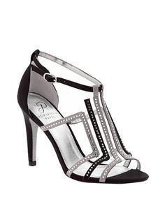 Adrianna Papell Emilia Satin & Crystal T-Strap Sandals