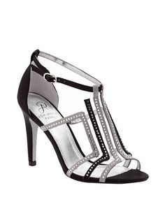 Adrianna Papell Emilia Satin & Crystal T-Strap Sandals