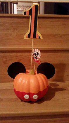Mickey Mouse Halloween Birthday Centerpiece