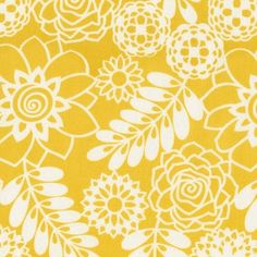 Dear Stella House Designer - Bukhara - Floral in Yellow things-to-sew