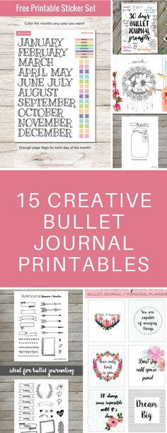 Bullet Journal Printable Spreads - Perfect for when you're too busy to draw your own layouts - just print these out and glue them in your bujo! #bulletjournal #bujo #planner #printables
