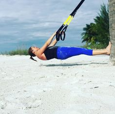 Sand, sweat, and straps. Pursue your better anywhere with TRX. Photo cred IG core3fitness. #TRX #trxtraining #fitness #trainanywhere #functionaltraining