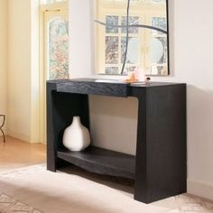 Amazon.com - Ballinger Black Finish Modern Hallway Console Table - Sofa Tables