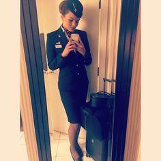 British Airways Stewardess providing special service to VIP passengers