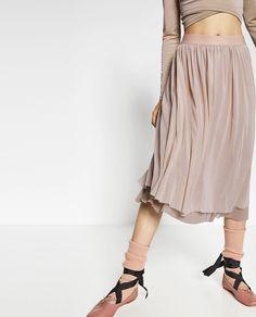 Ballerina-Inspired Fashion To Buy Now | Zara Tulle Skirt ($29.90)