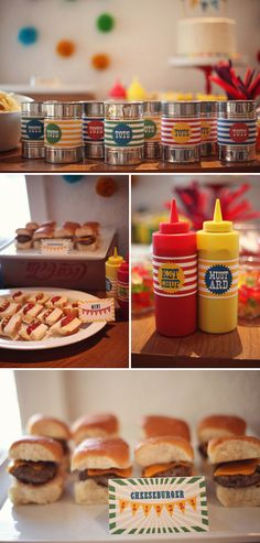 I love the mini hot dogs and sliders for the kiddos!! :)