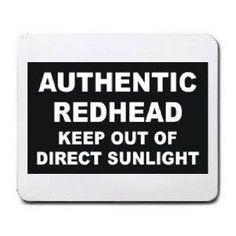 authentic redhead