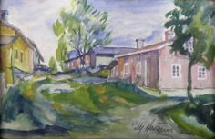 Kalle Aaltonen. Kalliomäkeä. Akvarelli pahville. 1932. Painting, Art, Art Background, Painting Art, Kunst, Paintings, Performing Arts, Painted Canvas, Drawings
