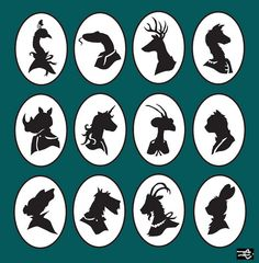 animal silhouettes by beans+ink