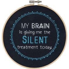 Dimensions® Silent Treatment Counted Cross-Stitch Kit - Herrschners #subversive #humor