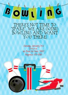 Bowling Party Bowling Party Printables Bowling by kinsleyskloset