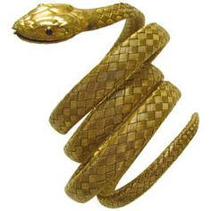 Victorian Gold Serpent Bracelet | From a unique collection of vintage cuff bracelets at https://www.1stdibs.com/jewelry/bracelets/cuff-bracelets/