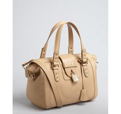 Jimmy Choo nude leather 'Gaia' satchel