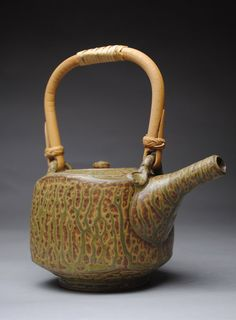 Clay Teapot Stoneware Green Ash by JohnMcCoyPottery