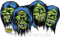 Dirty Donny Shrunken Heads Sticker Image