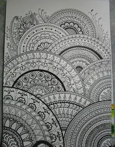 Such a detailed zentangle!