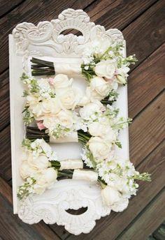 Pretty #white #wedding bouquets (Photo by Joanna Tano)