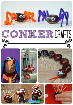 Amazing conker crafts from red ted art halloween crafts for toddlers, toddler crafts, preschool Crafts For 3 Year Olds, Halloween Crafts For Toddlers, Fall Crafts For Kids, Toddler Crafts, Crafts To Do, Art For Kids, Harvest Crafts For Kids, Halloween Activities, Kids Crafts