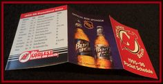1995-96 NEW JERSEY DEVILS BUDWEISER ICE HOCKEY POCKET SCHEDULE FREE SHIPPING #Pocket #Schedule