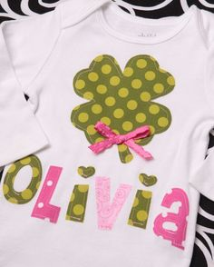 Pink and Green St. Patty Day tee
