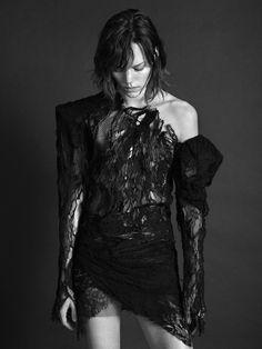 Freja Beha Erichsen this is anthony vaccarello for saint laurent | Photography Mario Sorrenti   Fashion Director Alastair McKimm | i-D