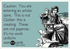 Being creative usually goes hand-in-hand with clutter ha!