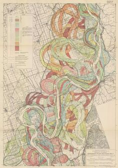 Harold Fisk - Radical Cartography of the Mississippi River meanders