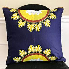 "These bold and beautiful African print pillow will be the perfect complement to your couch and the focal point in any room in your home or office.Description:- Two-sided cushions- Fully lined for strong and durable pillows- cotton African fabric- Dimension: 18"" x 18"" / 45 x 45 cm*** Matching African Print curtains and"