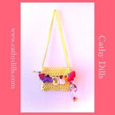 """""""Flowered handbag for girls"""" by Cathy Dills.  www.cathydills.com"""