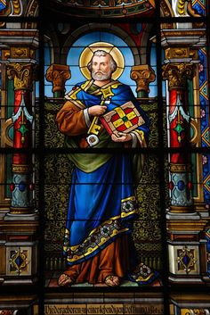 The Light of Faith — theraccolta: St. Peter, the Prince of the. Stained Glass Church, Stained Glass Art, Stained Glass Windows, Mosaic Glass, Catholic Religion, Catholic Art, Religious Icons, Religious Art, L'art Du Vitrail