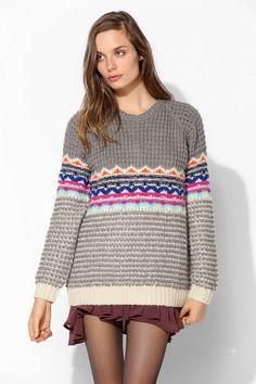 Coincidence & Chance Bright Fair Isle Sweater
