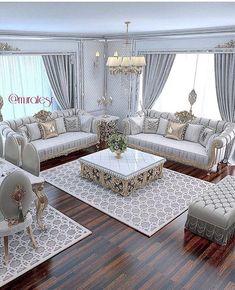 The Simple Romantic Living Room Trap 138 Living Room Sofa Design, Living Room Decor Cozy, Home Living Room, Interior Design Living Room, Living Room Designs, Romantic Living Room, Elegant Living Room, Luxury Living, Sofa Set