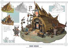 Original concept art by Mad Chan Bg Design, Prop Design, Game Design, Fantasy Artwork, Fantasy Concept Art, Landscape Concept, Fantasy Landscape, Environment Concept Art, Environment Design