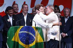 Dilma festeja: metade de seus eleitores é do Sul e do Sudeste