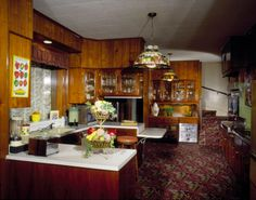 Graceland's kitchen where Elvis' cook made the famous grilled peanut butter sandwiches.
