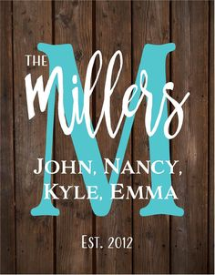 Custom Personalized Name Iniital Monogram Sign - Wedding, Anniversary, Christmas, Housewarming, Birtday, Mother's Day, Gift, Shower Gift by HeartlandSigns on Etsy