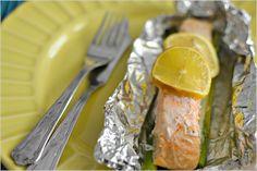 Sweet my Kitchen: Salmão em papelote com espargos