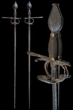 Twin rapiers. http://art-of-swords.tumblr.com/post/53707928859/rare-twin-rapiers-dated-16th-century-culture