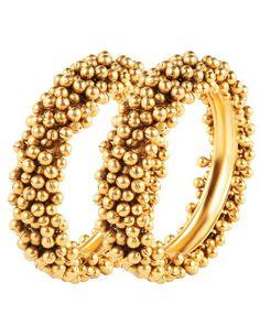 Gold Beaded Bangles - Jewellery Designs