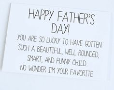 Happy Father's Day, Funny Father's Day Card, Father's Day Greeting Card, Funny Card for Dad
